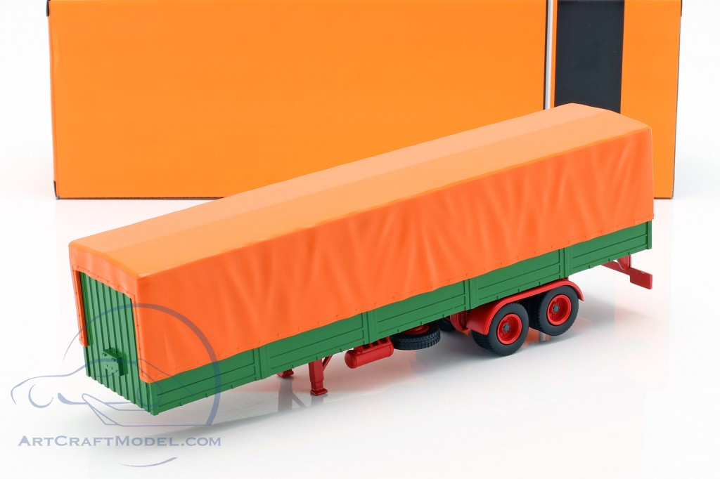 flatbed semitrailers with cover green / orange  ixo