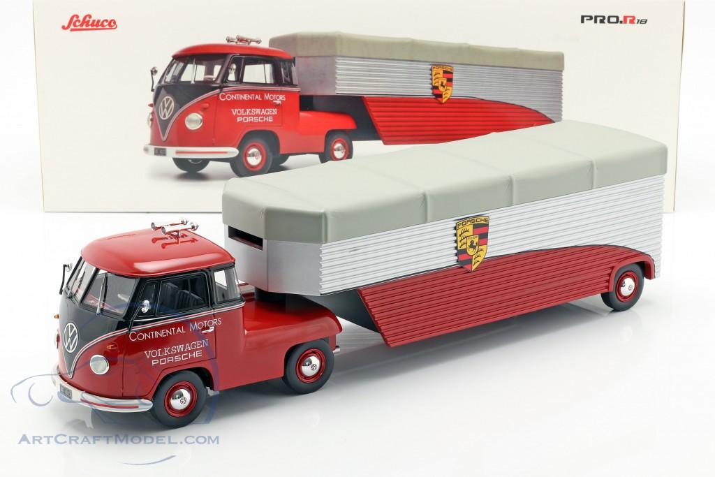 Volkswagen VW T1b Porsche Race Truck Continental Motors red