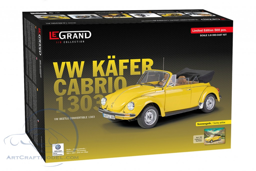 Volkswagen VW Beetle 1303 Cabriolet year 1976 kit sunny yellow