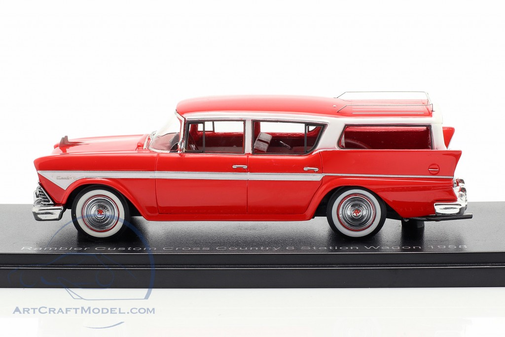 #44666 Neo Rambler Custom Cross Country 6 Station Wagon 1958-1:43 rot