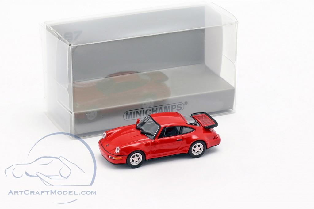 Minichamps 1:43 Porsche 911 Turbo 964 1990 red
