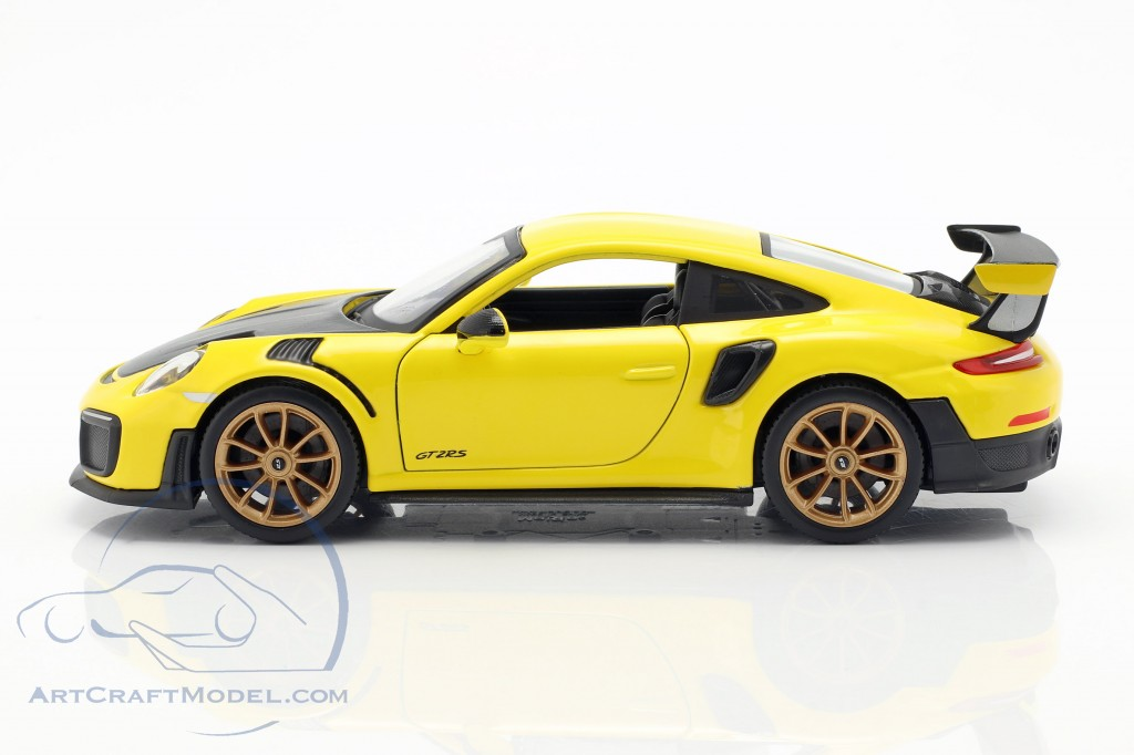 porsche 911 991 ii gt2 rs year 2018 yellow black 31523 ean 090159315230