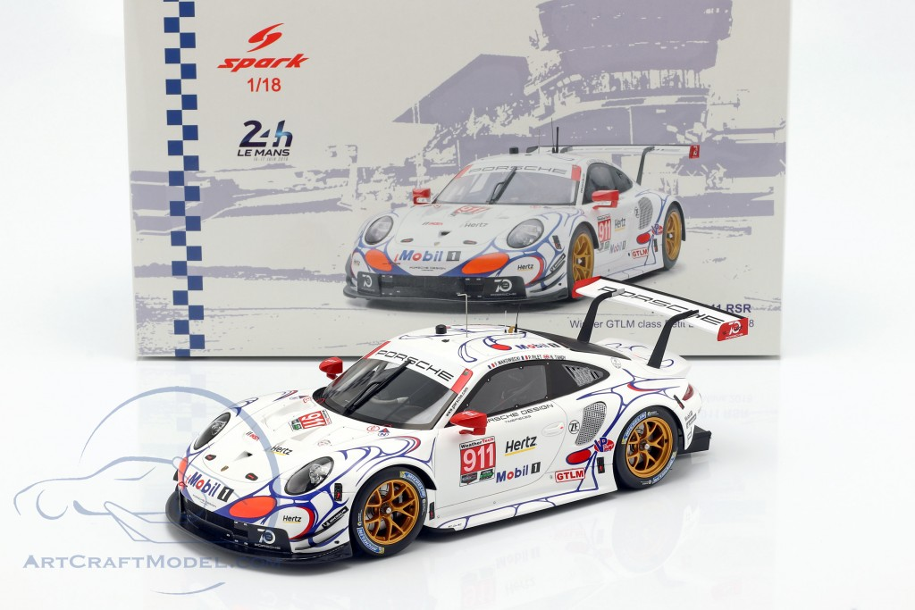 Porsche 911 RSR #911 Class Winner Petit LeMans 2018 Porsche GT Team