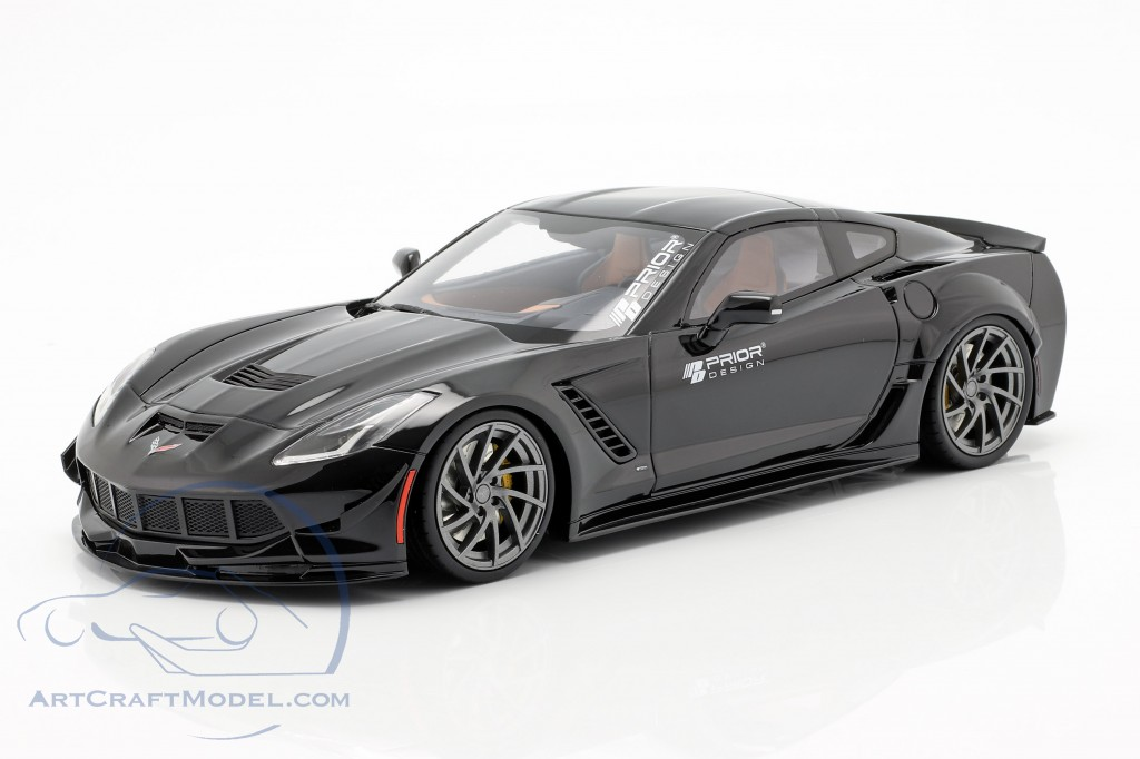 Chevrolet Corvette C7 Prior Design 2019 black  GT-Spirit