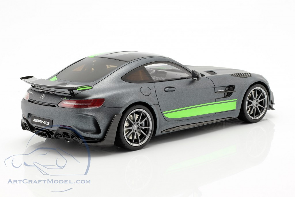 Mercedes-Benz AMG GT-R Pro year 2019 grey / green  GT-Spirit