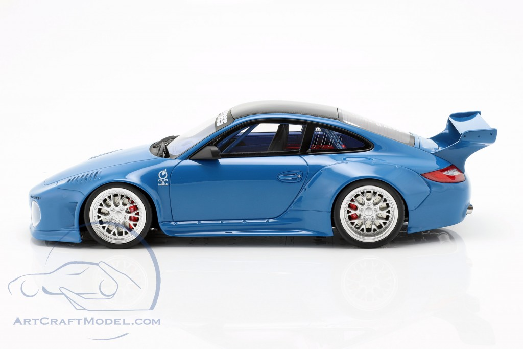 Porsche 911 (997) Old & New Body Kit 2016 blue  GT-Spirit