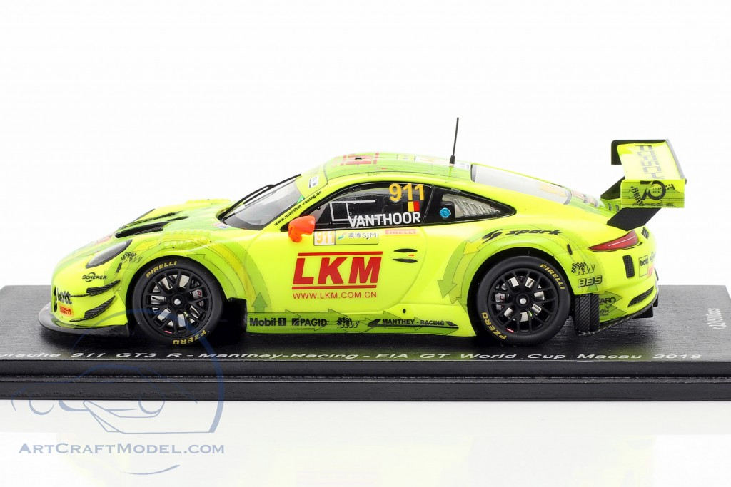 Porsche 911 (991) GT3 R #911 FIA GT World Cup Macau 2018 L. Vanthoor