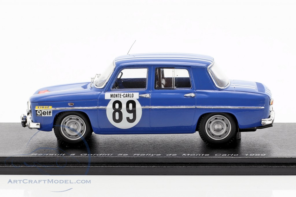 Renault 8 Gordini #89 5th Rallye Monte Carlo 1969 Therier, Callewaert