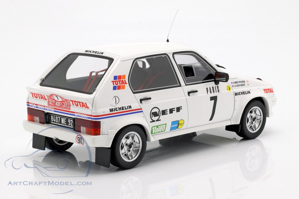 Citroën Visa 1000 Pistes Gr.B #7 Rally Monte Carlo 1985 Andruet, Peuvergne  OttOmobile