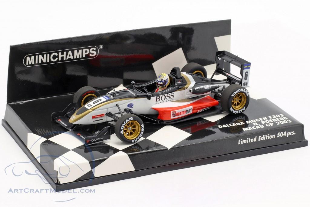 Nico Rosberg Dallara Mugen F303 #6 Macau GP 2003 1:43 Minichamps