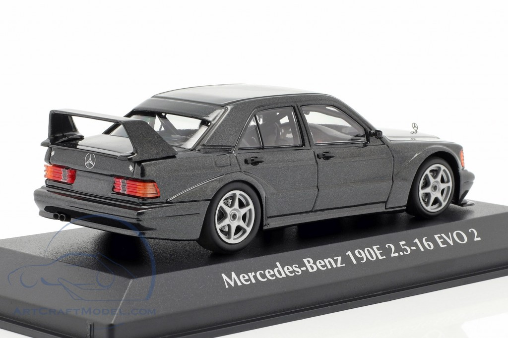 Mercedes-Benz 190E 2.5-16 EVO 2 year 1990 blue black metallic 1:43 Minichamps