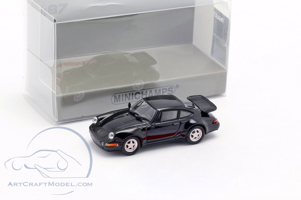 Porsche 911 Turbo (964) year 1990 black 1:87 Minichamps