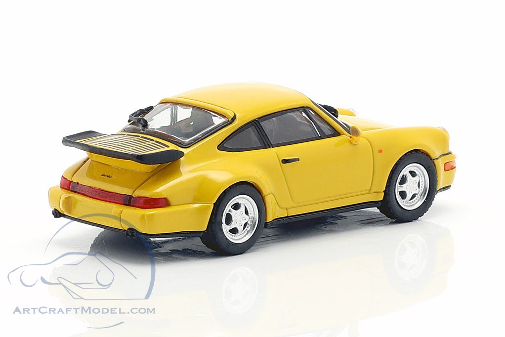 Porsche 911 Turbo (964) year 1990 yellow 1:87 Minichamps