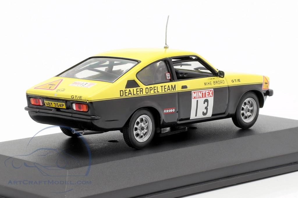 Opel Kadett C GT/E #13 Mintex Rally 1977 Röhrl, Broad