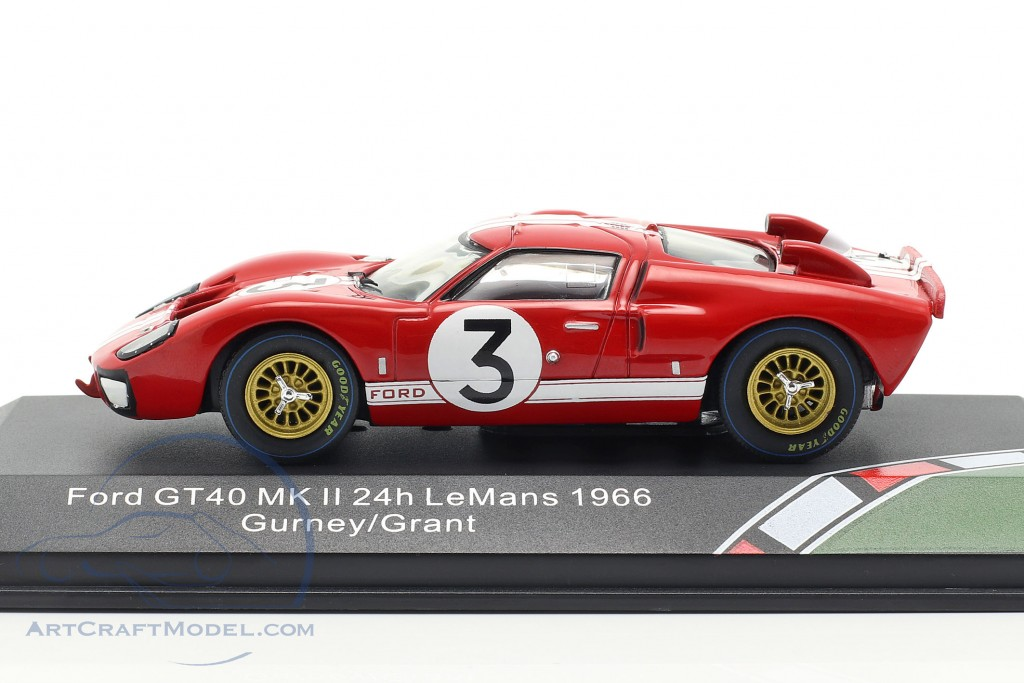 Ford GT40 MK II #3 24h LeMans 1966 Gurney, Grant