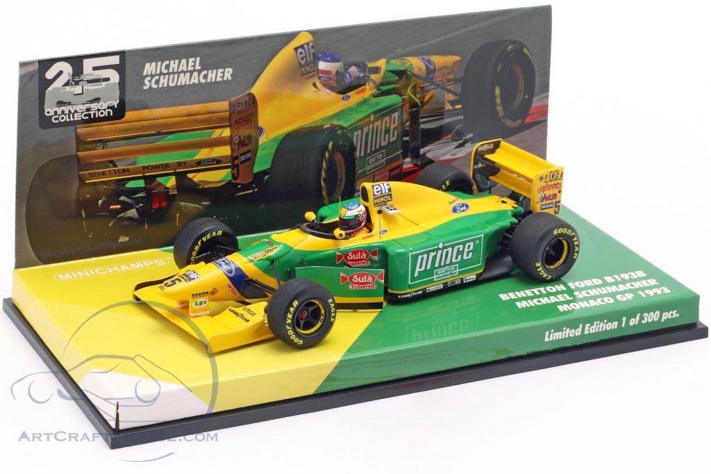 Michael Schumacher Benetton B193B #5 monaco GP formula 1 1993 1:43 Minichamps