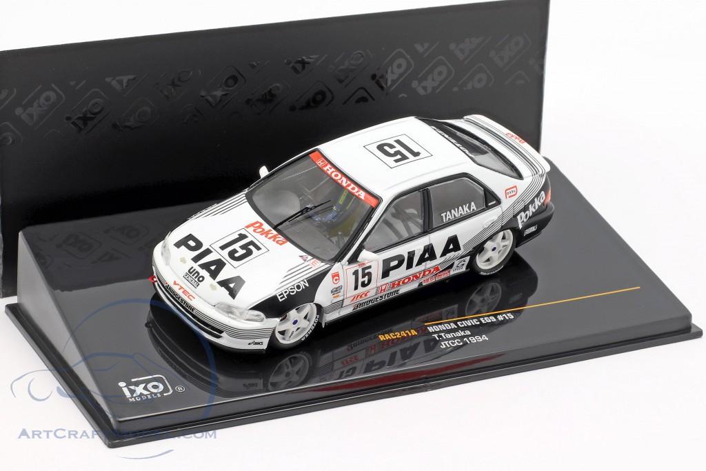 Honda Civic EG9 JTCC PIAA 1994 Tanak 1:43 IXO Voiture RAC241A