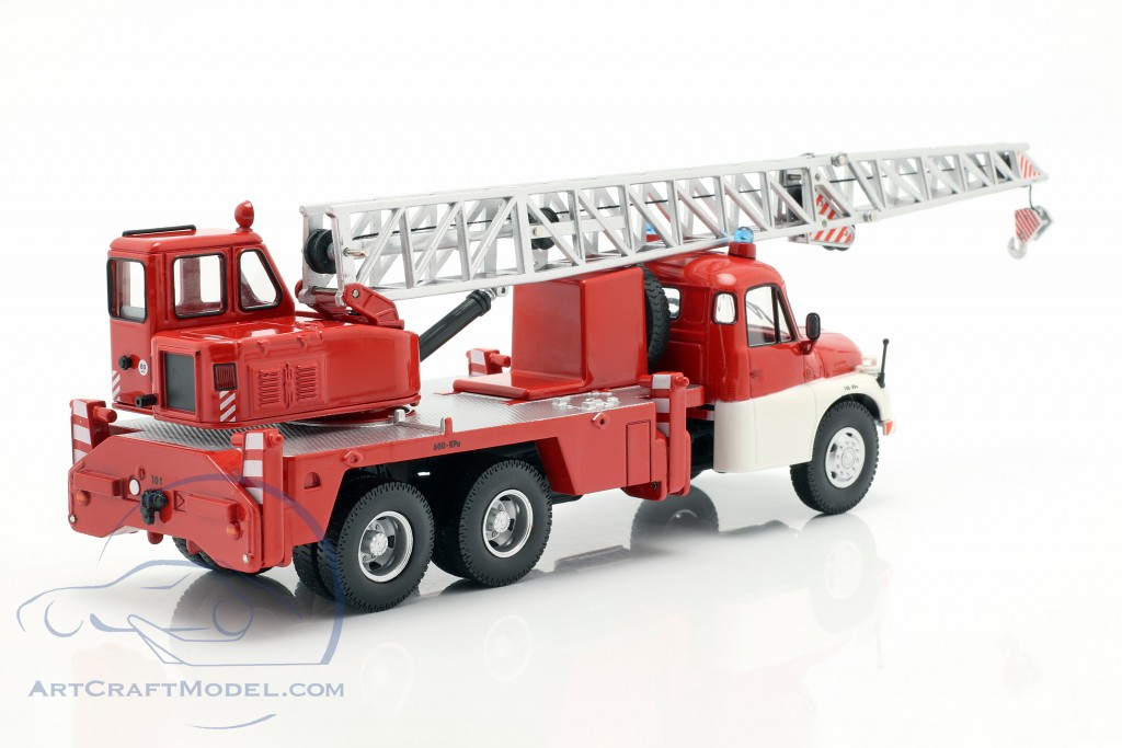 Tatra T148 crane vehicle fire department red / white