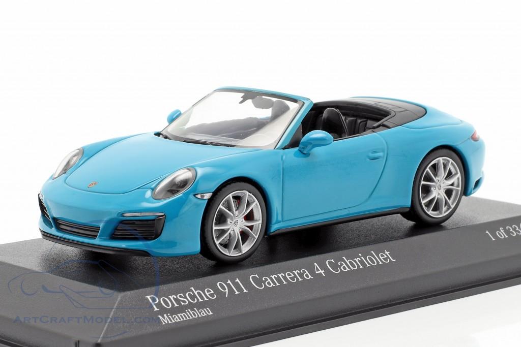 Porsche 911 (991 II) Carrera 4S Cabriolet year 2016 miami blue