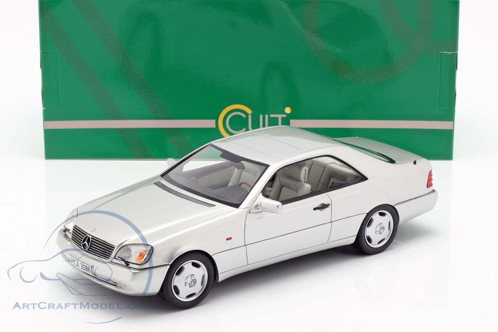 Mercedes-Benz 600 SEC (C140) year 1992 silver  Cult Scale