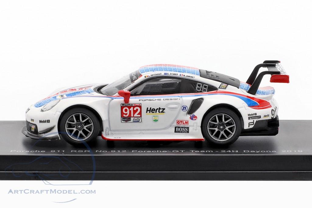 Spark Porsche 911 RSR #912 3rd Place Daytona 2019 1//18