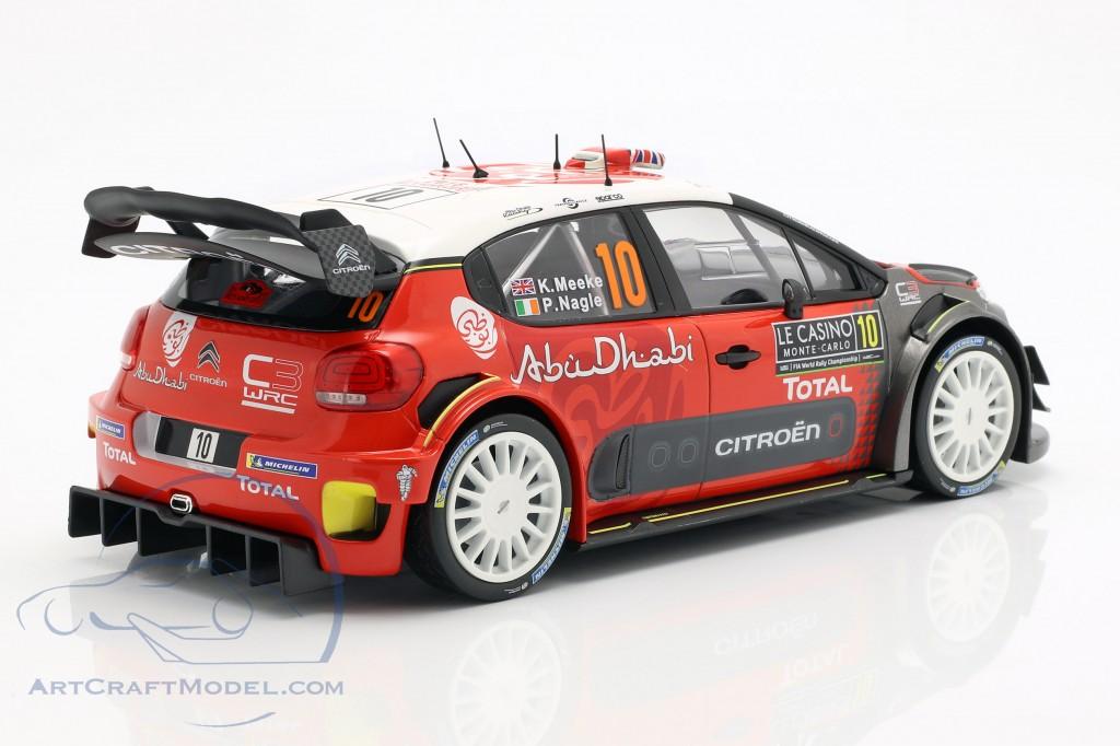 Citroen C3 WRC #10 4th Rallye Monte Carlo 2018 Meeke, Nagle