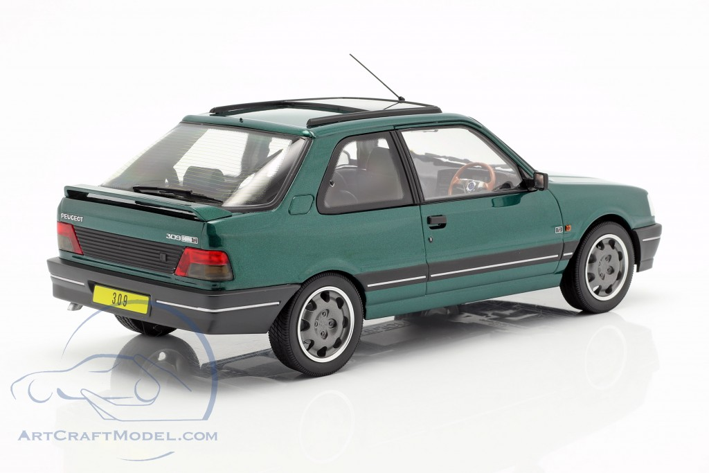 Peugeot 309 GTi RHD Goodwood year 1991 green metallic
