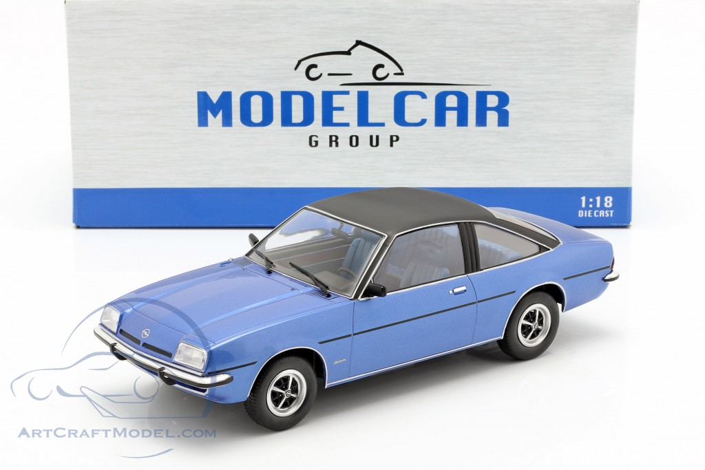 Opel Manta B Berlinetta year 1975 blue metallic  Model Car Group