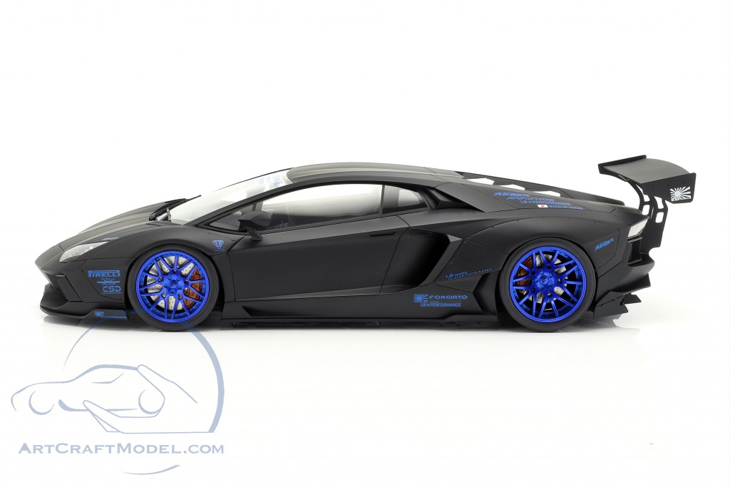 Lamborghini Aventador LB-Works year 2017 mat black / blue  GT-Spirit
