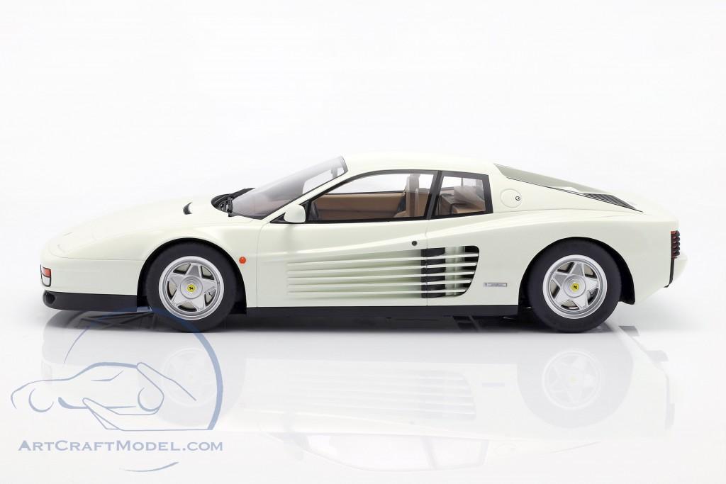 Ferrari Testarossa year 1984 white  GT-Spirit