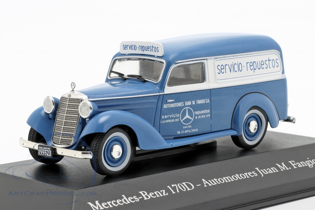 Mercedes-Benz 170D Automotores J. M. Fangio year 1954 blue / white