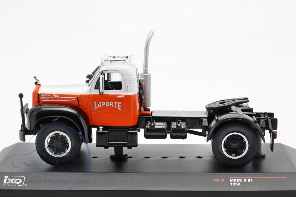 Mack B 61 Truck year 1953 orange / white