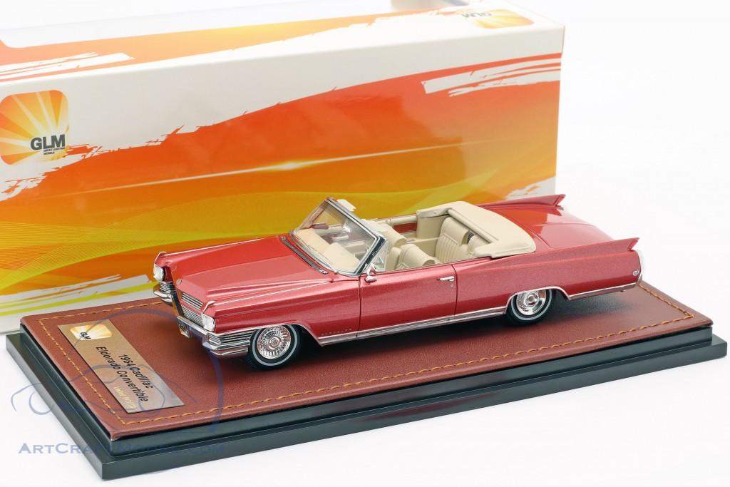 Cadillac Eldorado Convertible Open Top year 1964 red metallic  GLM