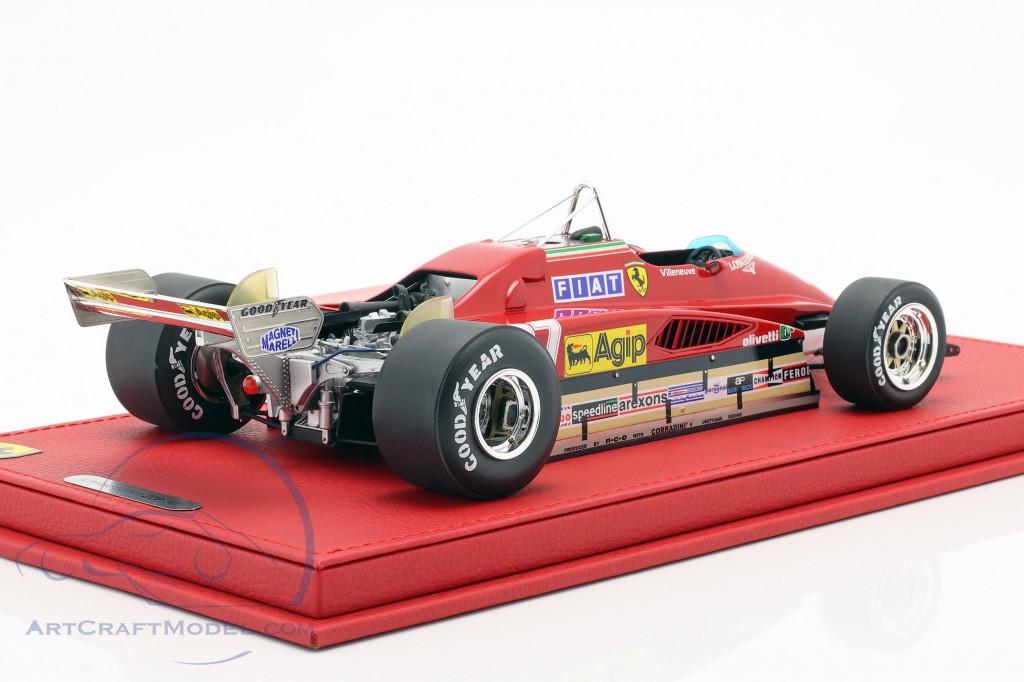 Gilles Villeneuve Ferrari 126 C2 #27 Belgium GP formula 1 1982 with showcase  BBR