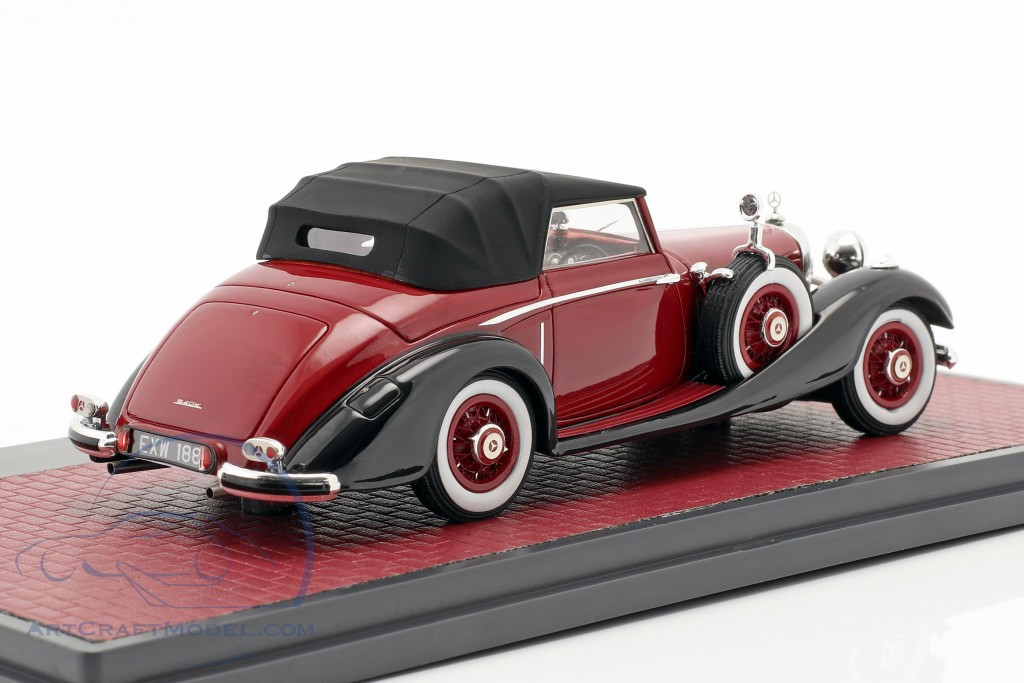 Mercedes-Benz 540K Roadster Lancefield Closed Top 1938 red