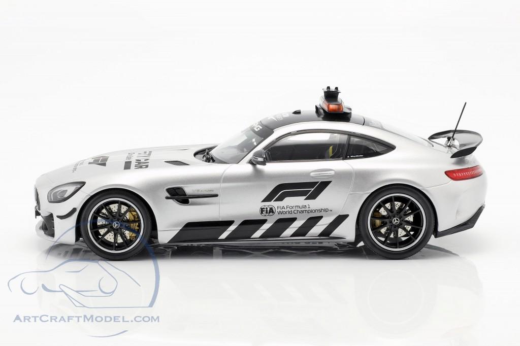 Mercedes AMG C 190 AMG GTR Coupe Safety Car 2019 Formel 1 Silber 1:18 Neu OVP