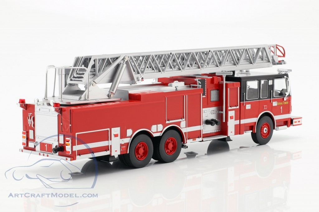 Smeal 105 escalera giratoria us bomberos Aerial Ladder 2015 rojo coche modelo 1:43 Ixo