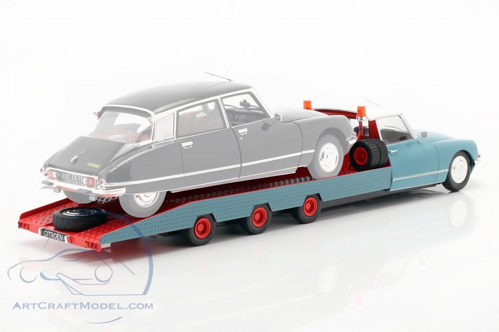 1:18 CMR Citroen DS Tissier Car Transporter 1970 red//white