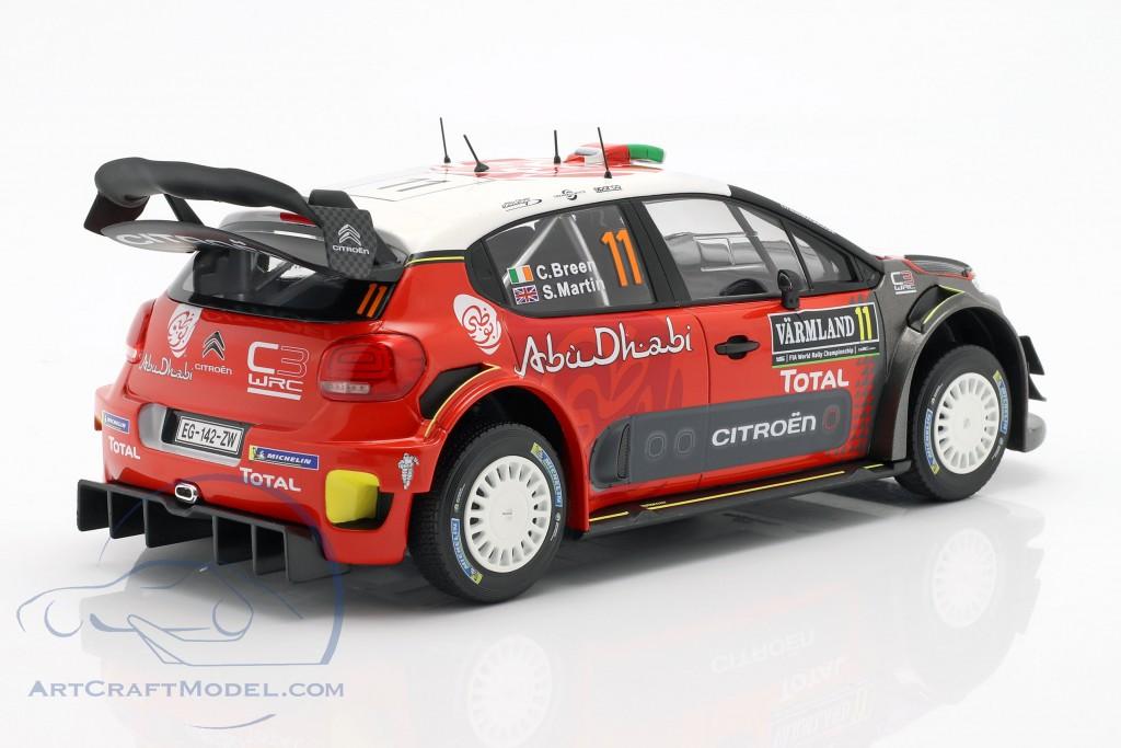 Citroen C3 WRC 2018 #11 2nd Rally Sweden 2018 Breen, Martin
