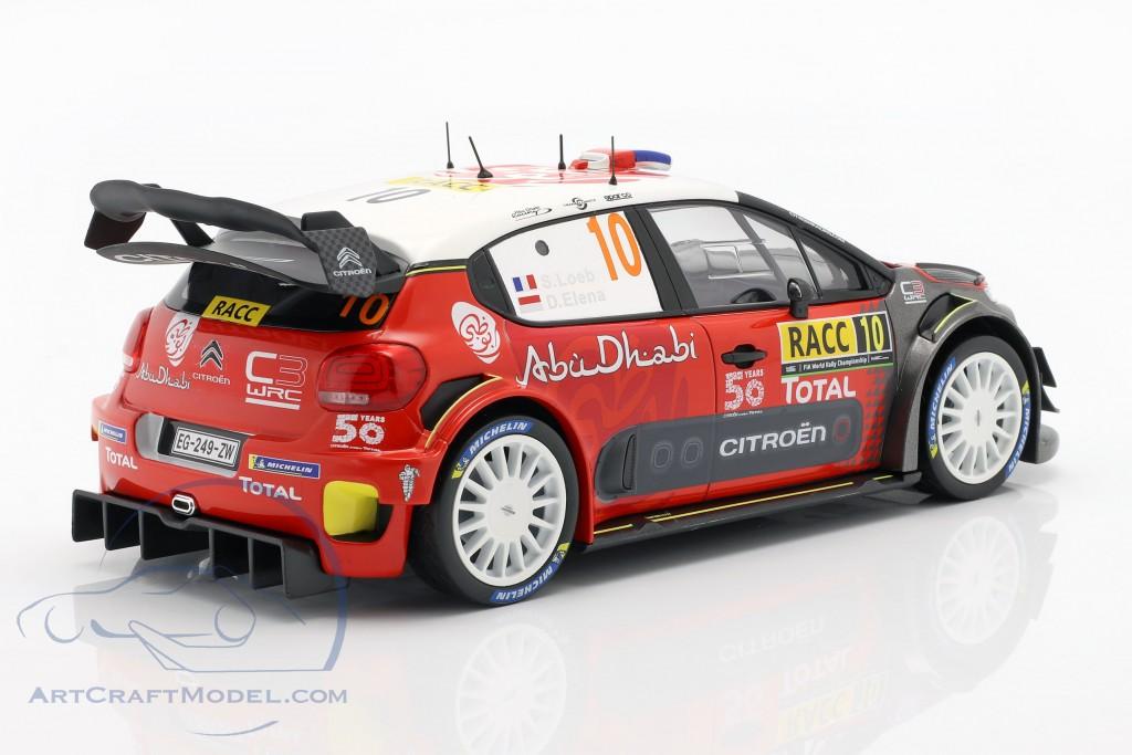 Citroen C3 WRC 2018 #10 Winner Rally Catalunya 2018 Loeb, Elena