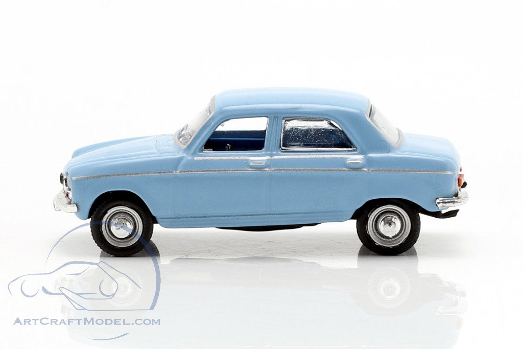 Peugeot 204 year 1966 blue 1:87