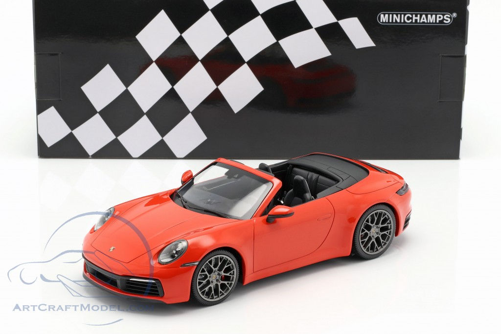 Porsche 911 (992) Carrera 4S Cabriolet 2019 orange