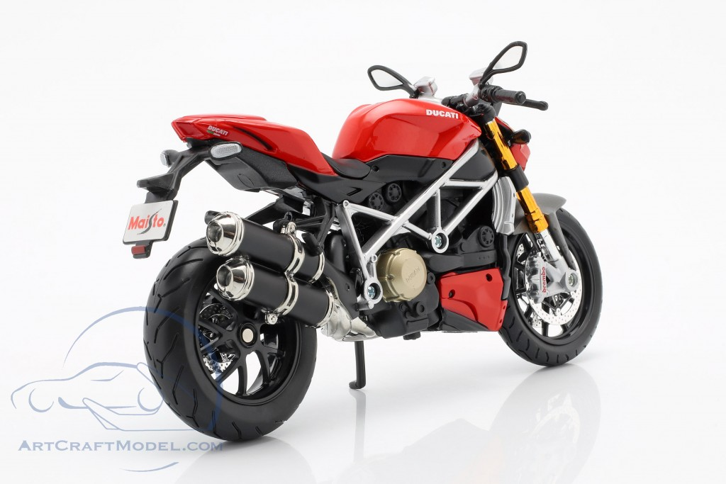 Ducati Mod Streetfighter S Red Motorbike 1:12 Model 11024R MAISTO