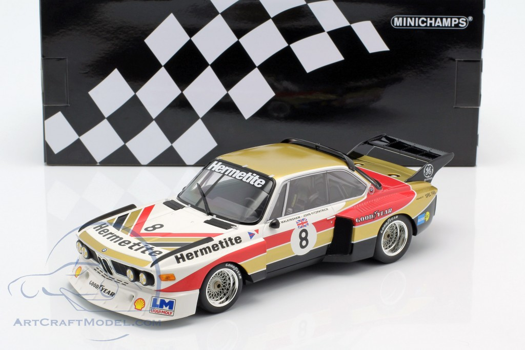 1000KM NÜRBURGRING 1976 #8 1:18 FITZPATRICK//WALKINSHAW BMW 3.5 CSL HERMETITE