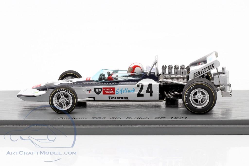 Rolf Stommelen Surtees TS9 #24 5th British GP formula 1 1971
