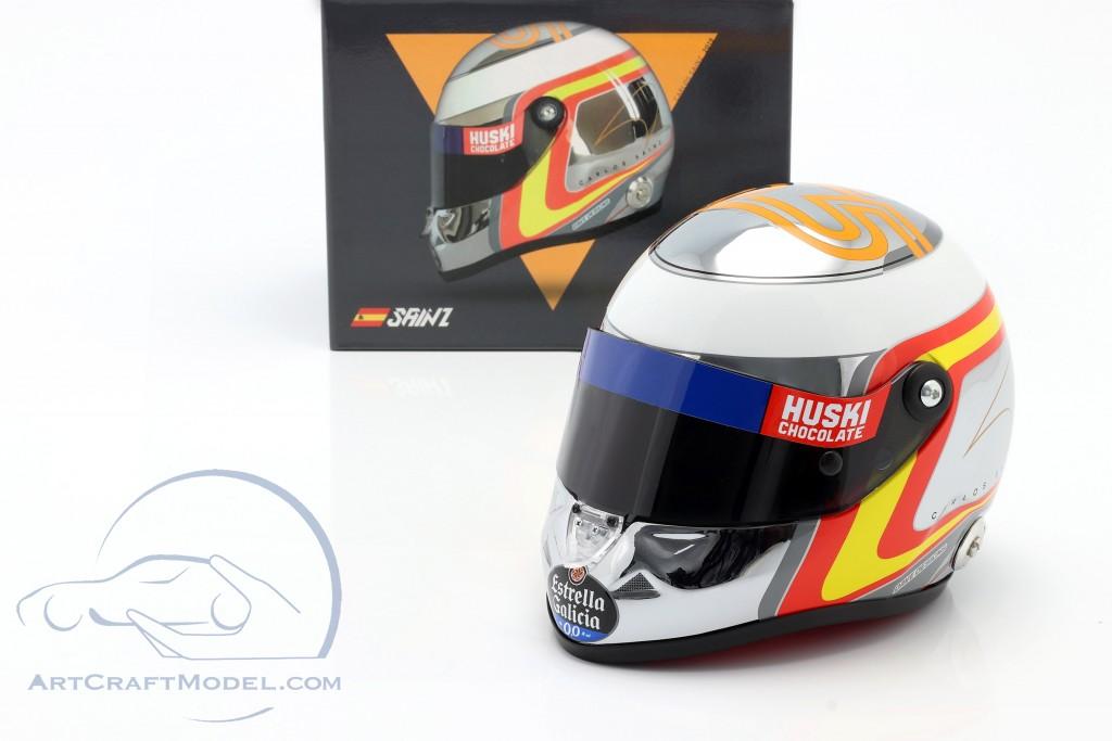 Carlos Sainz jr. McLaren MCL34 #55 formula 1 2019 helmet chrome