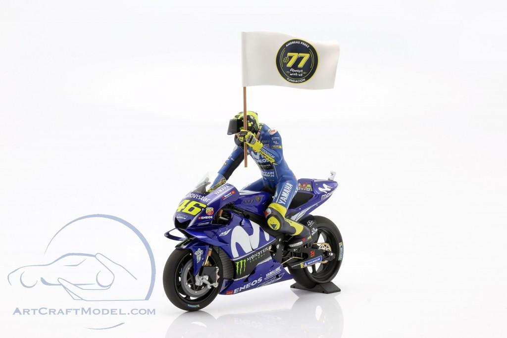 Valentino Rossi Yamaha YZR-M1 #46 3rd MotoGP Catalonia 2018  MInichamps