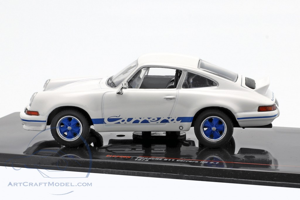 Porsche 911 Carrera RS 2.7 year 1973 white / blue