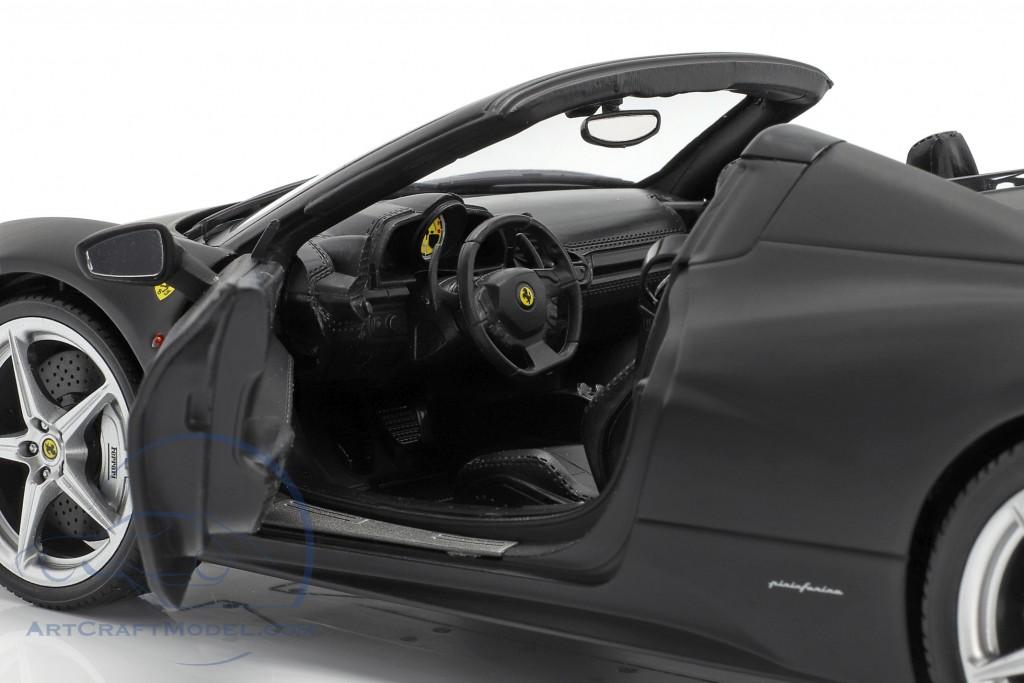 Ferrari 458 Italia Spider Year 2011 matt black   Heritage