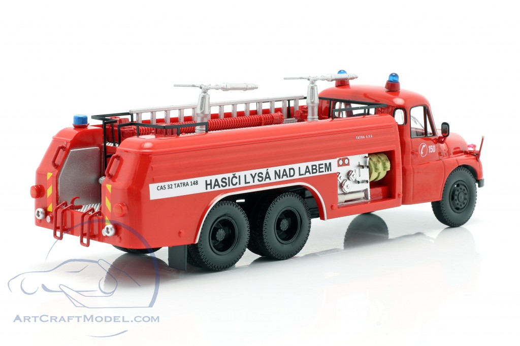 Tatra T148 6x6 fire Department Czech Republic  year 1968 red